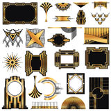 Art Deco Vintage frames stock illustration