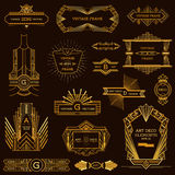 Art Deco Vintage Frames. And Design Elements - in vector