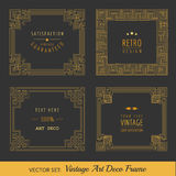 Art Deco Vintage Frames. And Design Elements - in vector Royalty Free Stock Photos