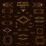 Art Deco Vintage Frames and Design Elements Royalty Free Stock Photo