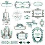 Art Deco Vintage-kaders Stock Afbeeldingen