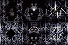 Art Deco vintage patterns and design elements. Retro party geome Stock Image