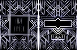 Art Deco vintage patterns and design elements. Retro party geome Stock Images
