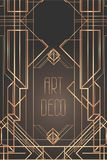 Art Deco vintage patterns and frames. Retro party geometric background set (1920's style). Vector illustration for glamour party,. Thematic wedding or textile royalty free illustration