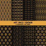 Art Deco Vintage Patterns Stock Photo