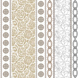 Art deco vintage silk wallpaper with ethnic motifs and bohemian elements. Royalty Free Stock Image