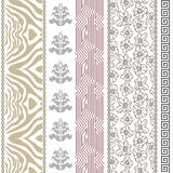 Art deco vintage silk wallpaper with ethnic motifs and bohemian elements. Stock Images