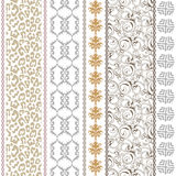 Art deco vintage silk wallpaper with ethnic motifs and bohemian elements. Stock Photos