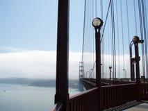 Art Deco Walkway on the Golden Gate Bridge looking towards San F Royalty Free Stock Images