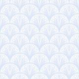 Art Deco wektorowy geometryczny wzór w srebnym bielu. Zdjęcia Royalty Free