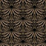 Art Deco wektorowy kwiecisty wzór Zdjęcie Stock