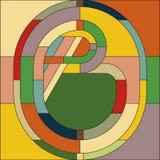 Art Deco wektoru barwiony geometryczny wzór Art Deco witrażu wzór royalty ilustracja