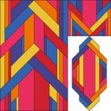 Art Deco wektoru barwiony geometryczny wzór Art Deco witrażu wzór ilustracji