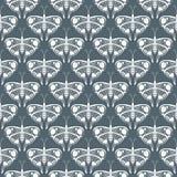 Art Deco wektoru wzór z motylami Obrazy Stock