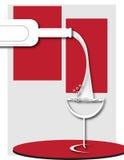 Art Deco wina plakat Obrazy Royalty Free