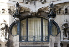 Art Deco Window. A rare esample of liberty architecture in Florence, Italy, 2008 Stock Photo
