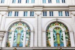 Art deco windows Stock Photo
