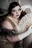 Art Deco Woman Royalty Free Stock Photography