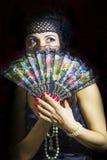 ART DECO Woman Stock Photo