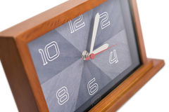 Art deco wooden clock Royalty Free Stock Image