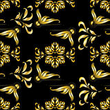 Art deco worm summer seamless pattern Royalty Free Stock Photography
