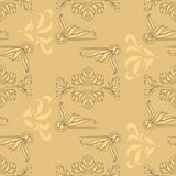 Art deco worm summer seamless pattern Stock Images
