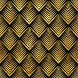 Art Deco złoty sealless wzór Zdjęcie Stock