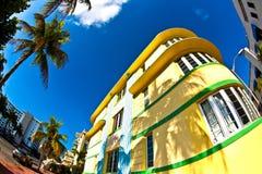 Art DecoArchitektur in Miami stockbilder