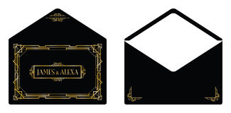Art- DecoArteinladungskarte Lizenzfreies Stockbild