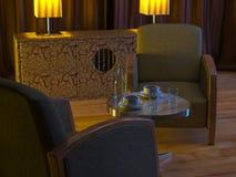 Art- DecoAsien Innenraum Stockfoto