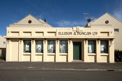 Art- DecoFassade, Napier Neuseeland Lizenzfreies Stockfoto
