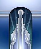 Art DecoGebäude w/spotlights lizenzfreie abbildung