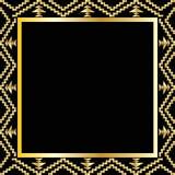 Art- Decogeometrischer Rahmen (zwanziger Jahre Art), Vektorillustration Stockfotos