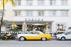 Art decohotel Avalon in het Strand van Miami, Florida stock afbeeldingen