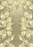 Art- Decometallischer Blathintergrund Lizenzfreie Stockbilder