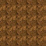 Art- DecoPfau-Hintergrund lizenzfreie abbildung
