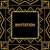 Art decor invitation card in vintage style. Vector Stock Image