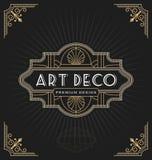 Art- DecoRahmen und Aufkleberdesign Lizenzfreie Stockfotos