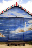 Art decorated beach hut. Royalty Free Stock Image