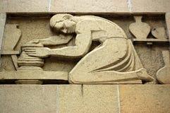 Art- DecoTöpferskulptur Lizenzfreie Stockbilder