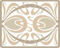 Art- Decotraceryentwurf in den Pastellfarben lizenzfreies stockbild