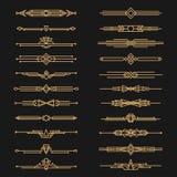 Art decoverdelers en decoratieve gouden kopballen stock illustratie