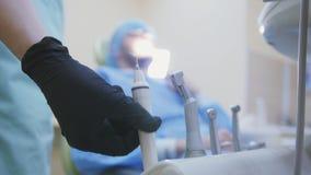 Art dentaire - équipement de technologie de clinique de stomatologie images libres de droits