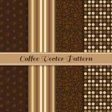 Art des Kaffeevektor-Musters 4 (brauner Kaffeeton) Stockfotos