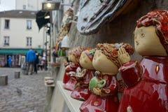 Art des poupées en Le Montmartre, Paris Image libre de droits