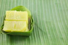 Art des thailändischen Konfekts, multi Schicht-süßer Kuchen (Kanom Chan) stockbild
