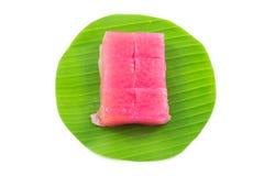 Art des thailändischen Konfekts, multi Schicht-süßer Kuchen (Kanom Chan) lizenzfreies stockbild