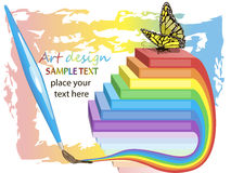 Art design background showing creativity success Royalty Free Stock Photos
