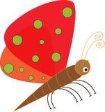 Art design cartoon butterfly Stock Image