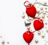 Art Design ett hälsningkort med lyckliga valentin dag Arkivfoton